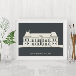 Parlement de Bretagne Affiche