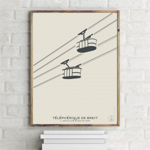 Brest Cable Car Poster