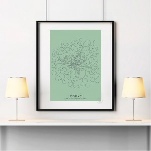 Figeac City Map Poster