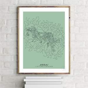 Arras City Map Poster