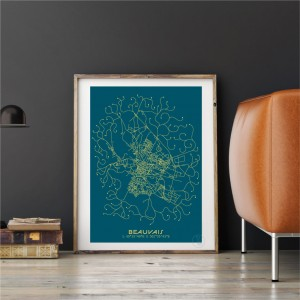 Beauvais City Map Poster