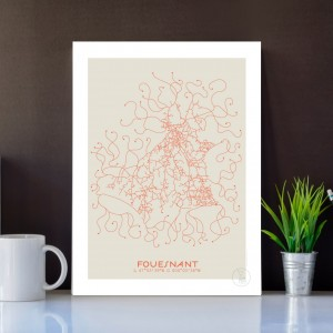 Fouesnant City Map Poster