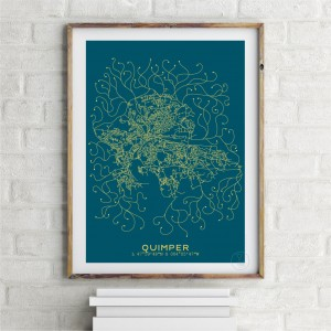 Quimper City Map Poster