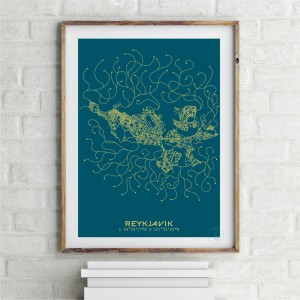 Reykjavik City Map Poster