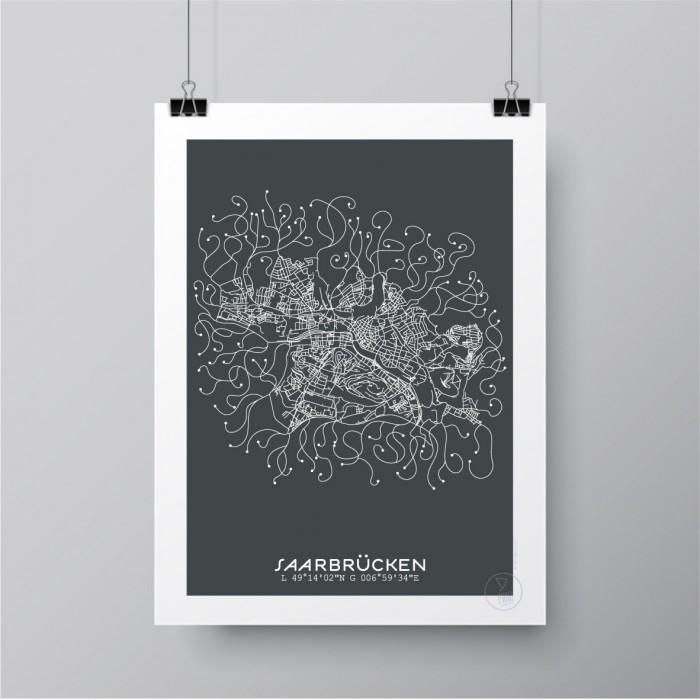 sarrebruck affiche plan. Black Bedroom Furniture Sets. Home Design Ideas