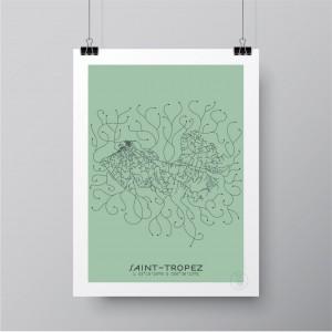 Saint-Tropez Affiche Plan
