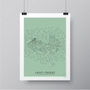 Saint-Tropez City Map Poster