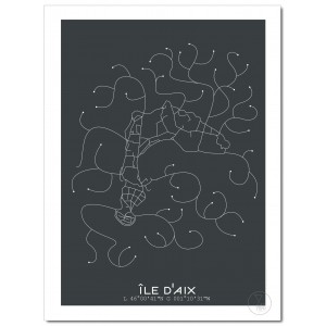 Île d'Aix Affiche Plan