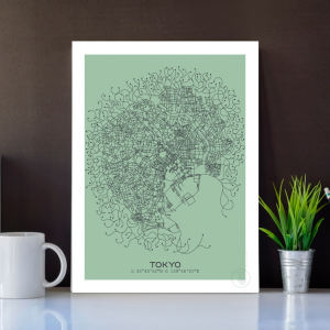 Tokyo City Map Poster