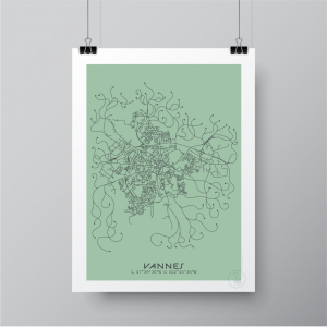 Vannes City Map Poster