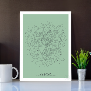 Sceaux City Map Poster