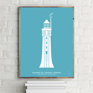 Phare du Grand Jardin Affiche