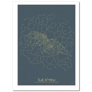 Île d'Yeu Affiche Plan