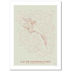 Île de Noirmoutier Affiche Plan