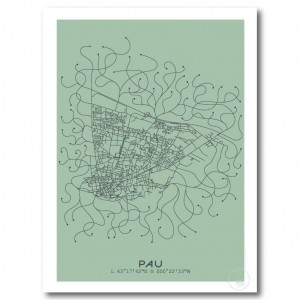 Pau City Map Poster
