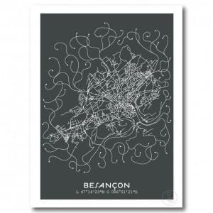 Besançon City Map Poster