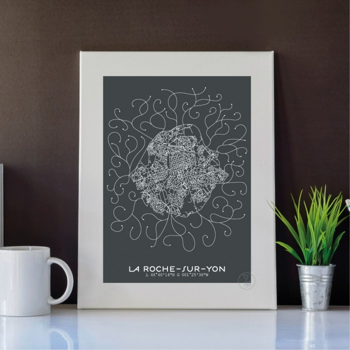 La Roche-sur-Yon Affiche Plan