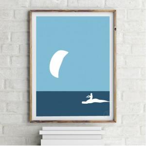 Kite 1 Affiche Kitesurf