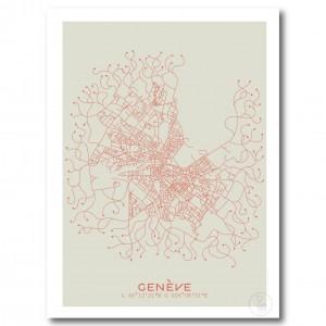 Genève City Map Poster