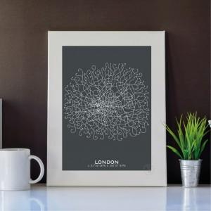 Londres Affiche Plan
