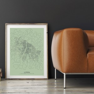 Lyon City Map Poster