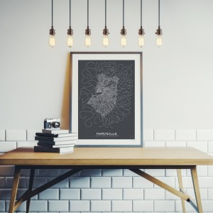 Marseille City Map Poster