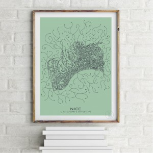 Nice City Map Poster