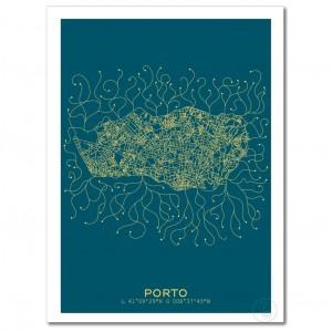 Porto City Map Poster
