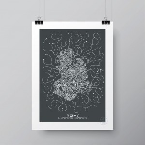 Reims City Map Poster