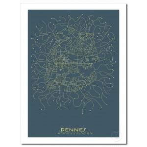 Rennes Affiche Plan