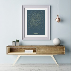 Rennes City Map Poster