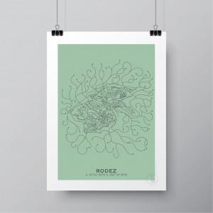 Rodez Affiche Plan