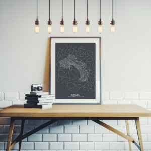 Royan City Map Poster