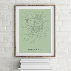 Saint-Malo City Map Poster