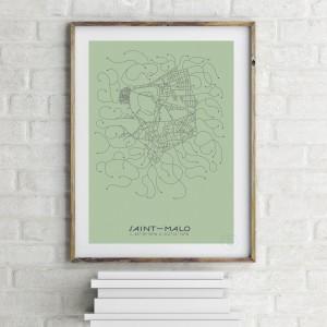 Saint-Malo City Map Poster