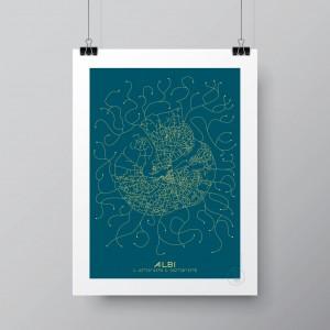 Albi City Map Poster