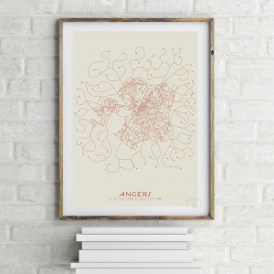 Angers City Map Poster