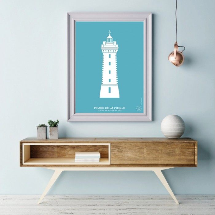 The Old Lady Lighthouse Poster