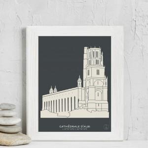 Cathédrale d'Albi Affiche
