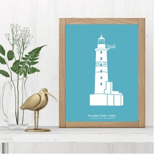 Phare d'Ar-Men Affiche