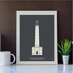 Biarritz Lighthouse Poster