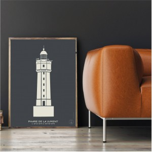 La Jument Lighthouse Poster