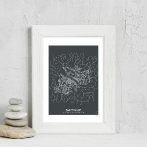 Bayonne City Map Poster