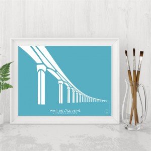 Île de Ré Bridge Poster