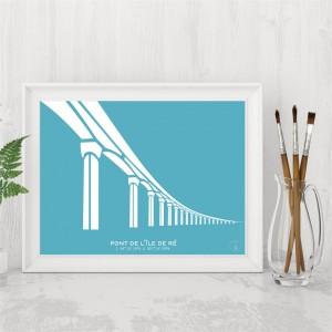 Pont de l'île de Ré Affiche