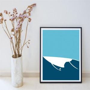 Nazaré Wave Poster
