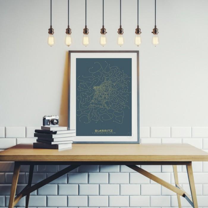 biarritz affiche plan. Black Bedroom Furniture Sets. Home Design Ideas