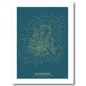 Auxerre Affiche Plan
