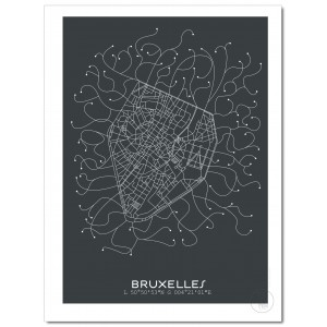 Bruxelles Affiche Plan