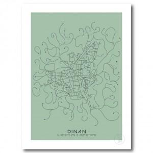 Dinan City Map Poster